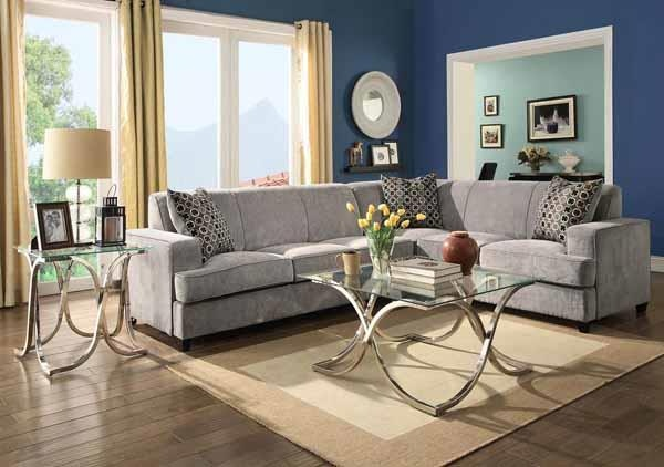 coaster living room sectional 500727   isaak s home