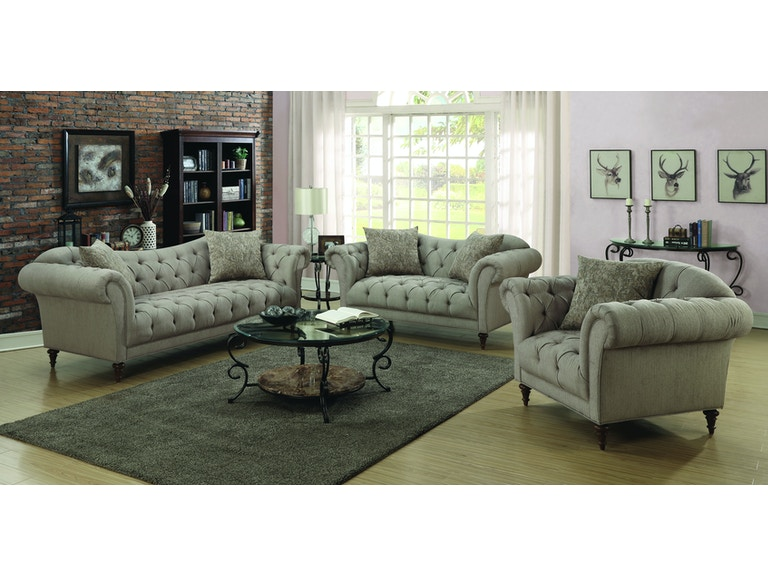 Marvelous Coaster Living Room 2 Pc Set Sofa Loveseat 505571 S2 Short Links Chair Design For Home Short Linksinfo