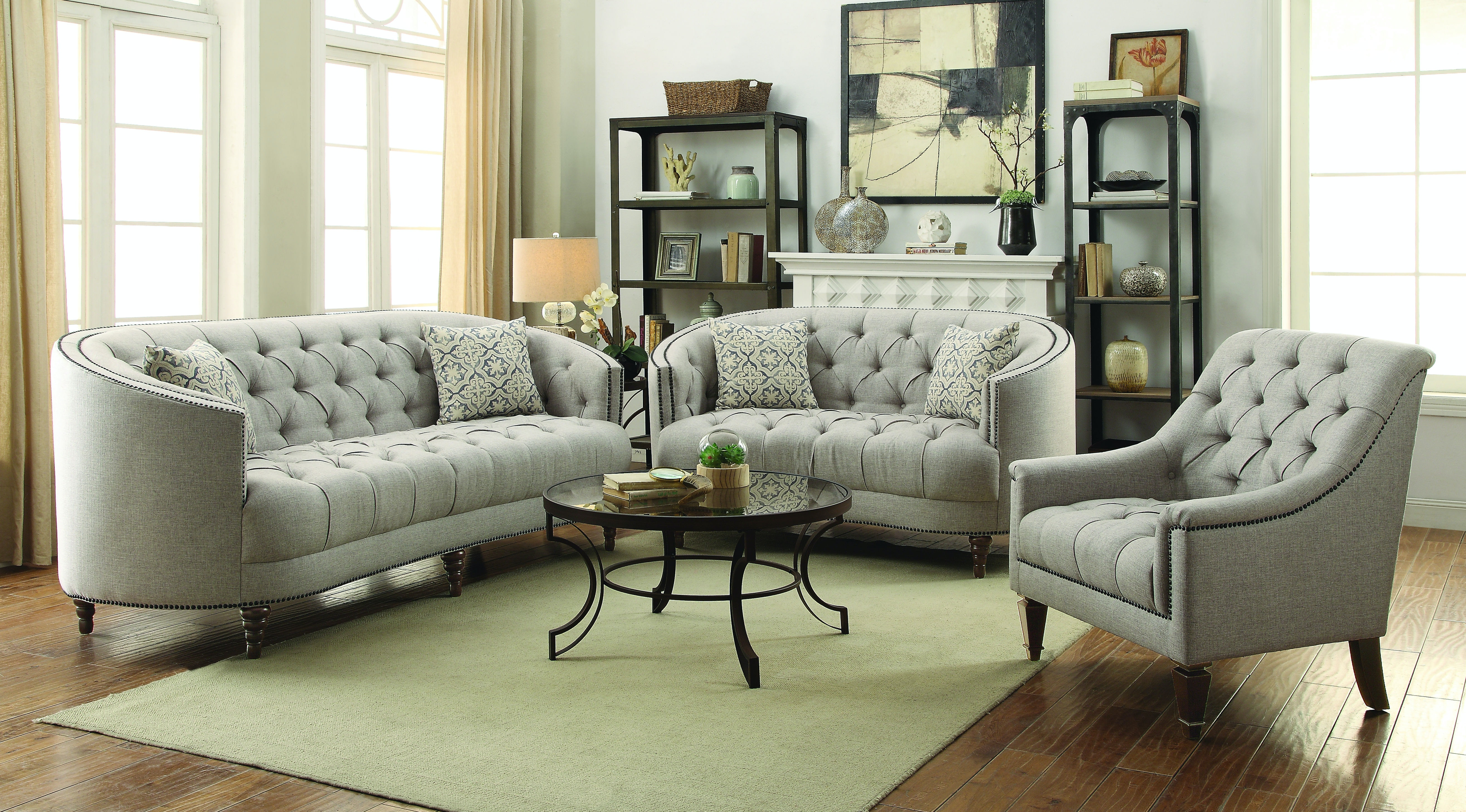 Delicieux Coaster Living Room 3 Pc Set 505641 S3 At Gallery Furniture Of Central  Florida