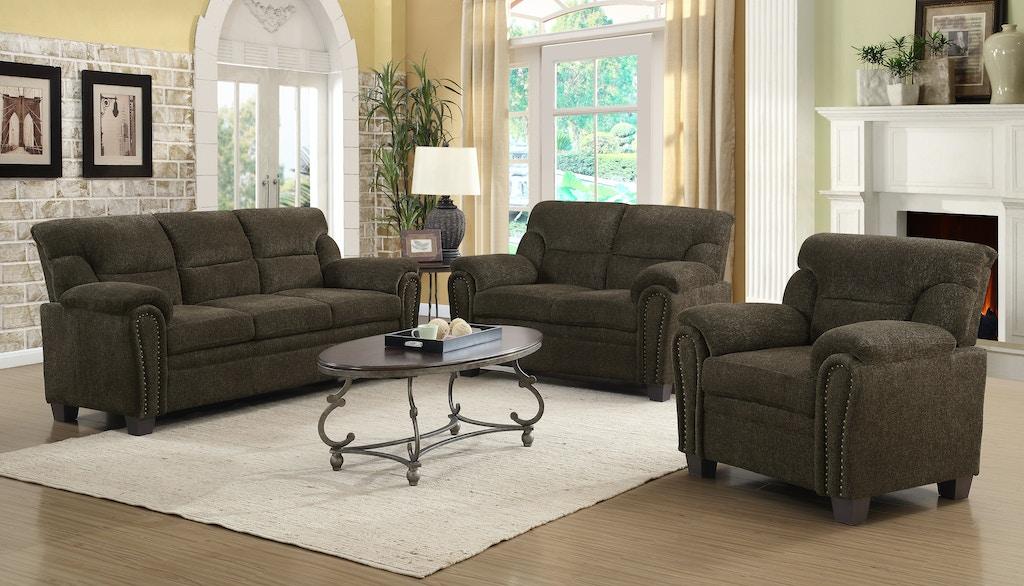 Coaster 3 Piece Living Room Set 506571-S3 - Nastasi\'s Fine ...