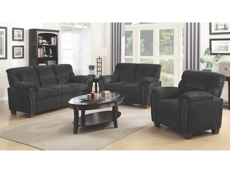 Coaster 3 Piece Living Room Set 506574-S3 - Evans Furniture ...