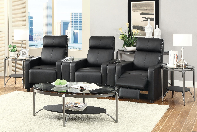 Coaster living room push back recliner 600181 at ridgemont furniture