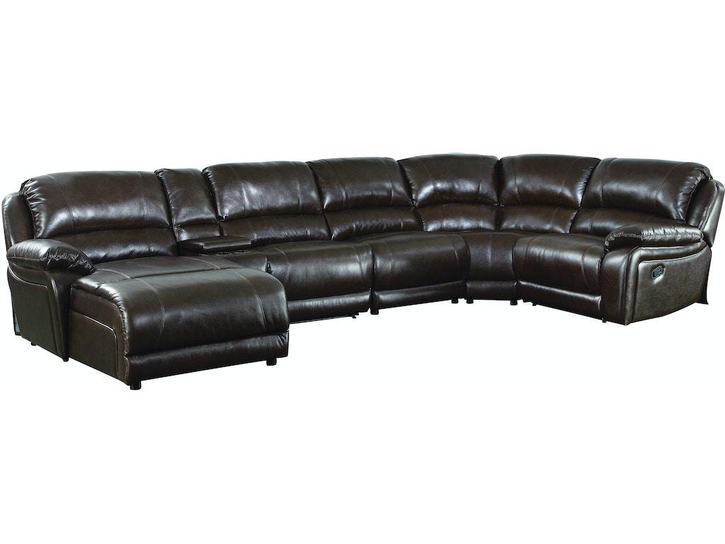 Mackenzie chestnut 6 piece reclining sectional sofa with for Mackenzie chestnut 6 piece reclining sectional sofa with casual style