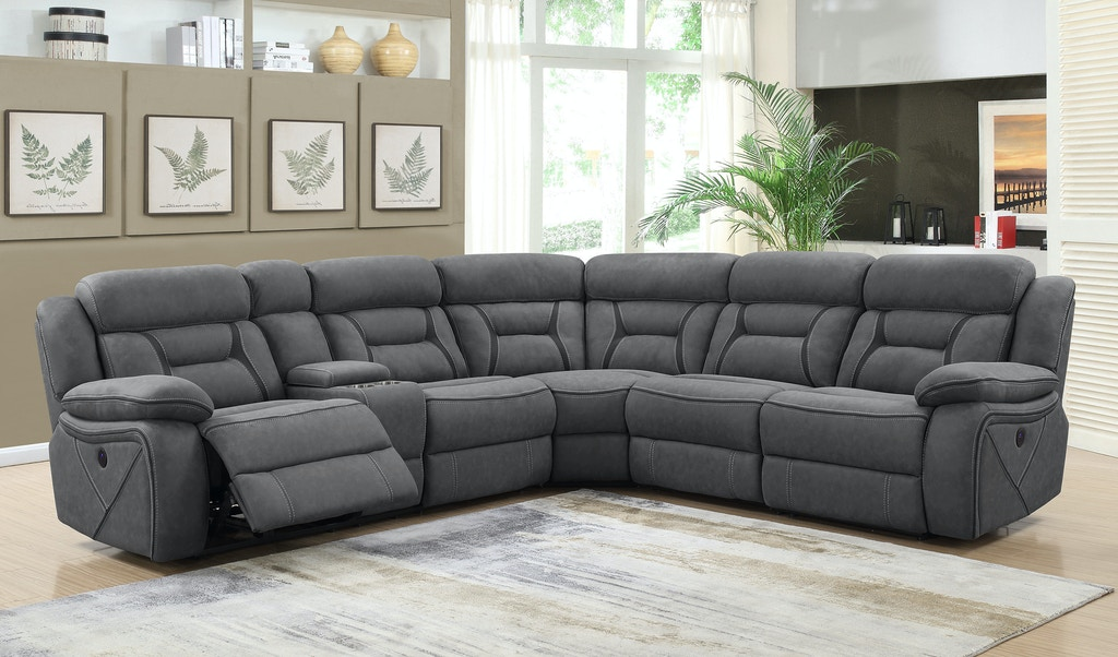 Super Coaster Living Room 4 Piece Sectional 600370 Evans Machost Co Dining Chair Design Ideas Machostcouk