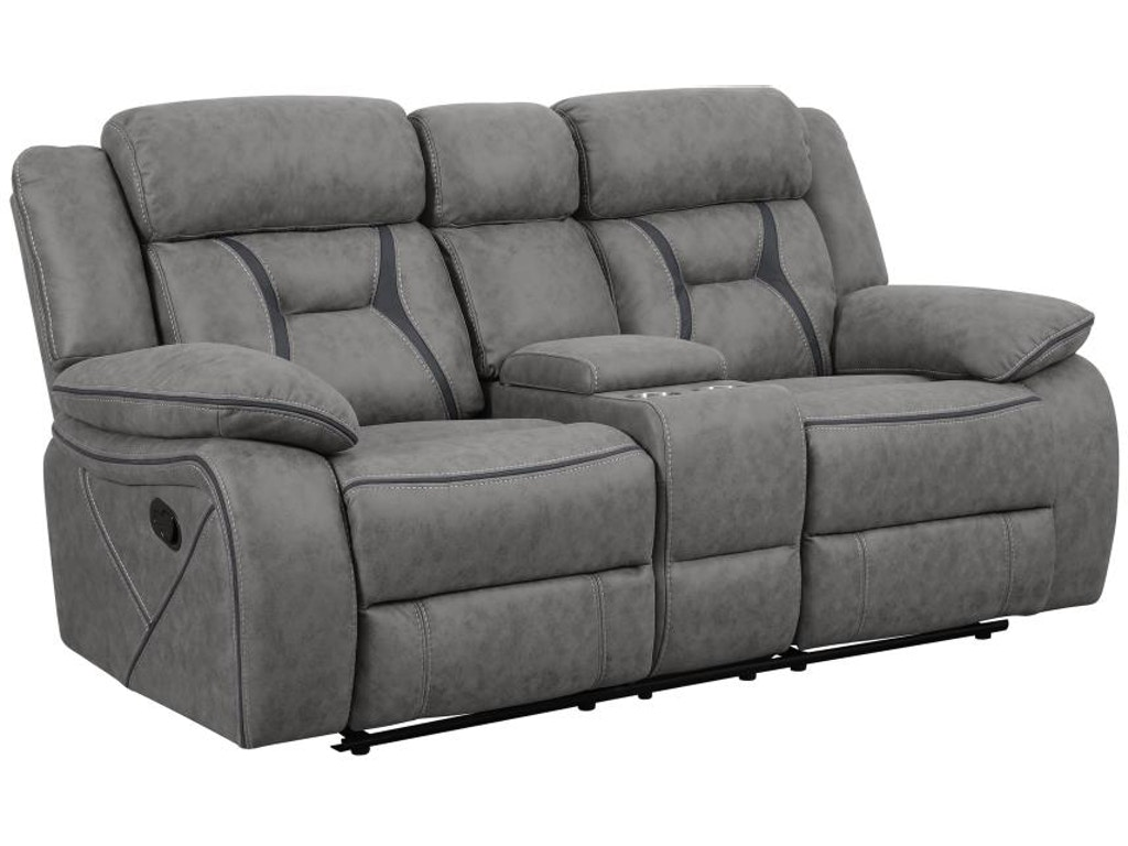 Coaster Living Room Motion Loveseat With Console 602262 Simply Discount Furniture Santa