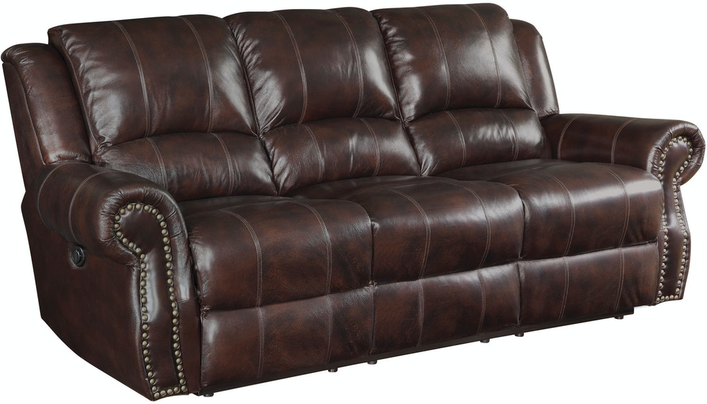 Coaster Living Room Leather Motion Sofa - Fulton Stores - Brooklyn ...