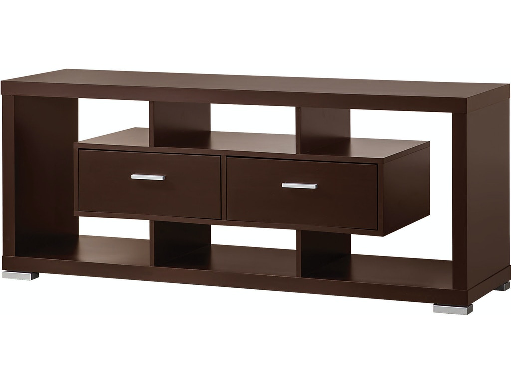 Coaster living room tv console 700112 simply discount for Console living room