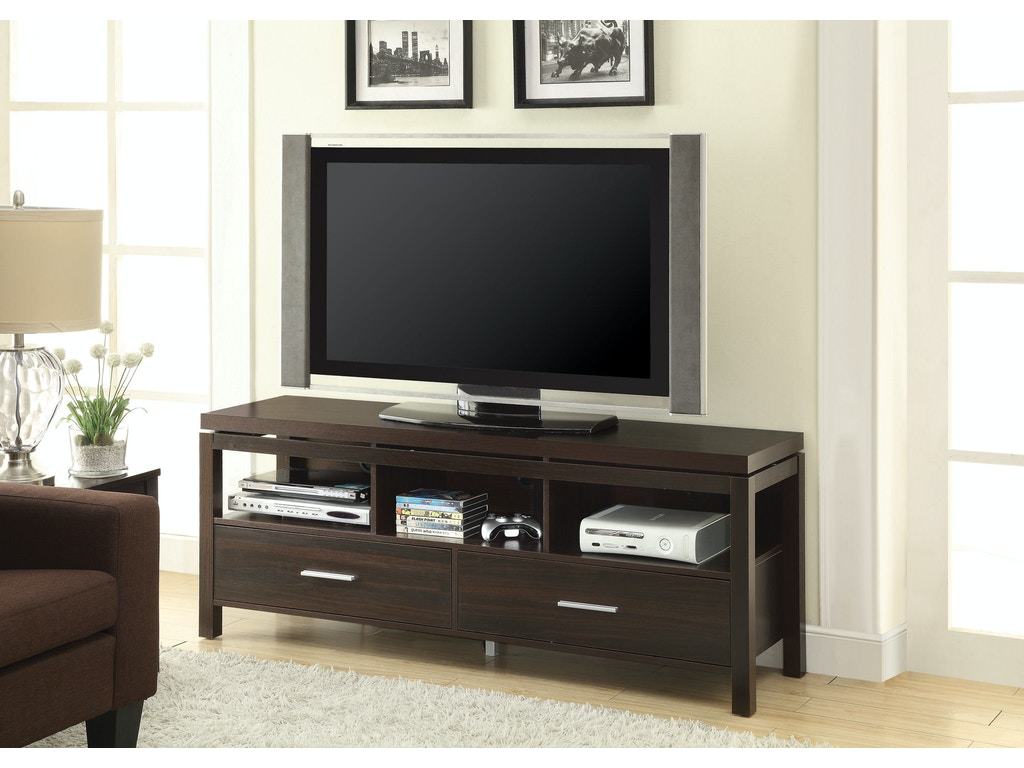 Coaster living room tv console 701971 trade mart for Console living room
