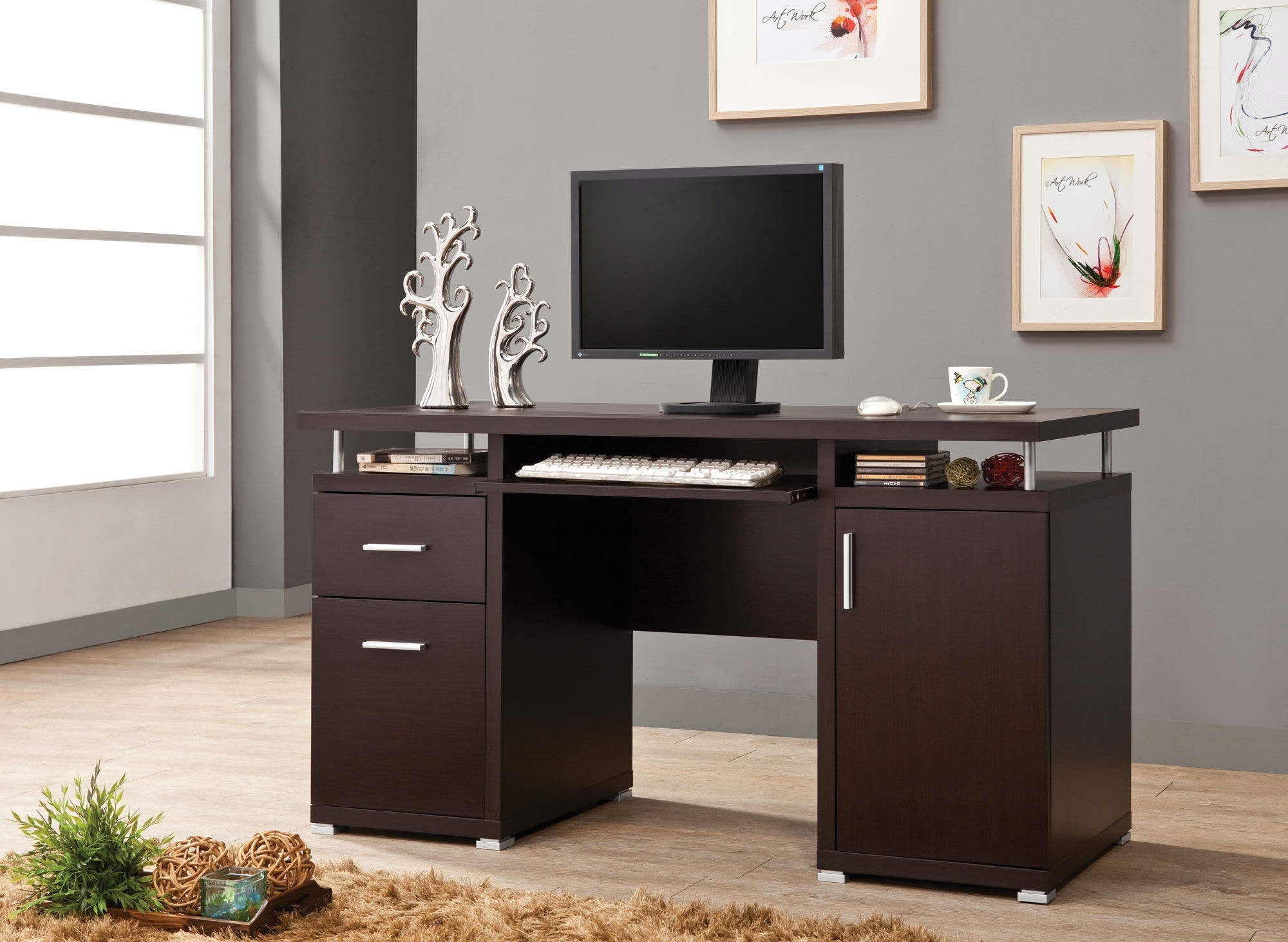 Coaster Home Office Computer Desk 800107 At Furniture Forever