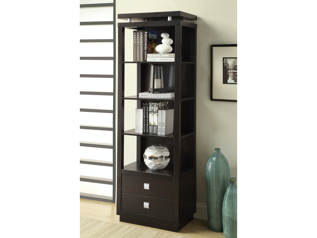 coaster home office bookcase 800354 the furniture house