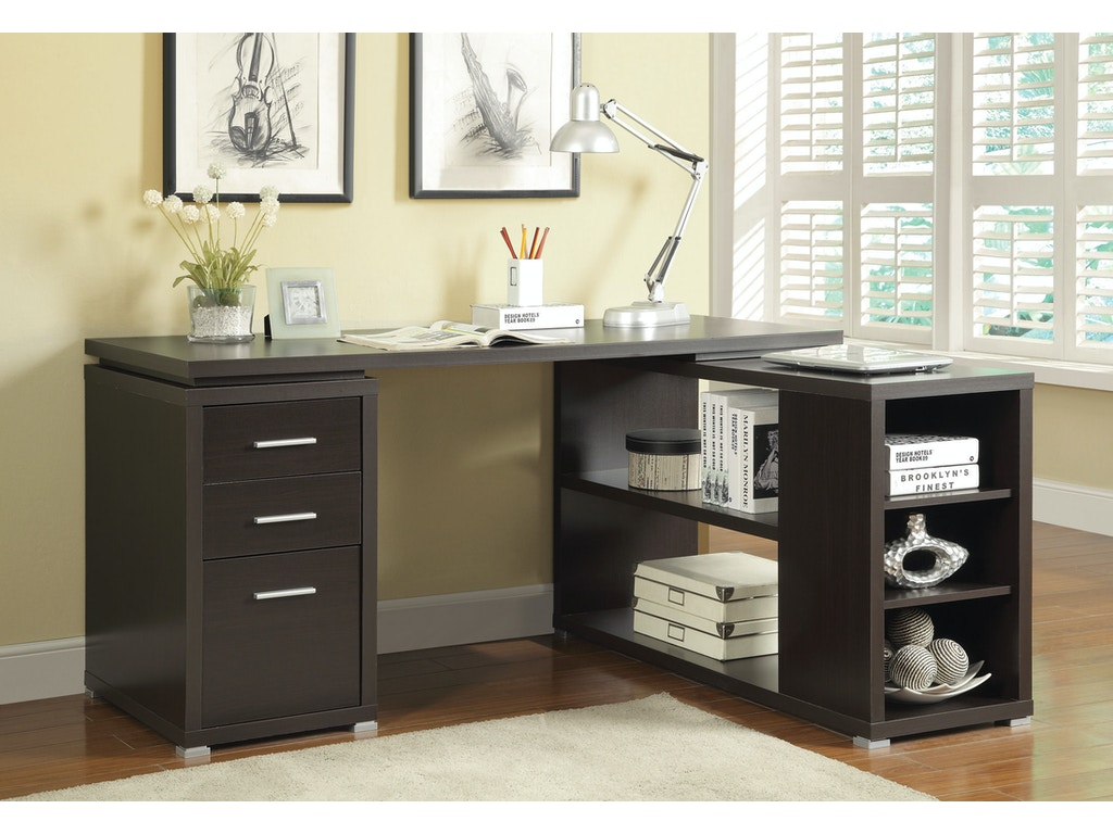 Coaster Home Office Office Desk 800517 Hickory Furniture
