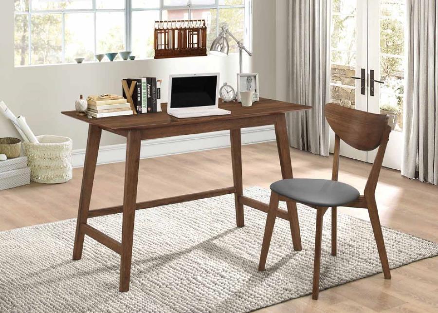 Walnut Home Office Furniture Walnut Veneer Coaster Desk Set 801095