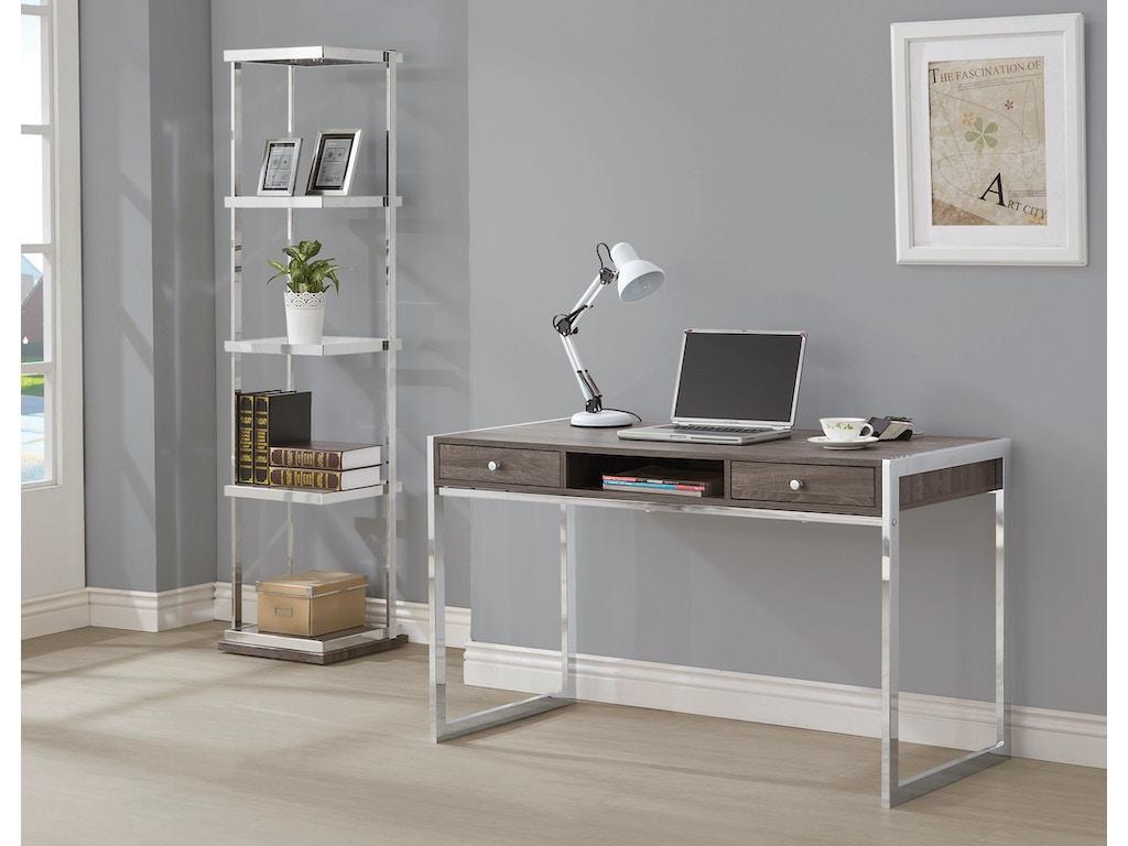 Coaster Home Office Writing Desk 801221 Hickory