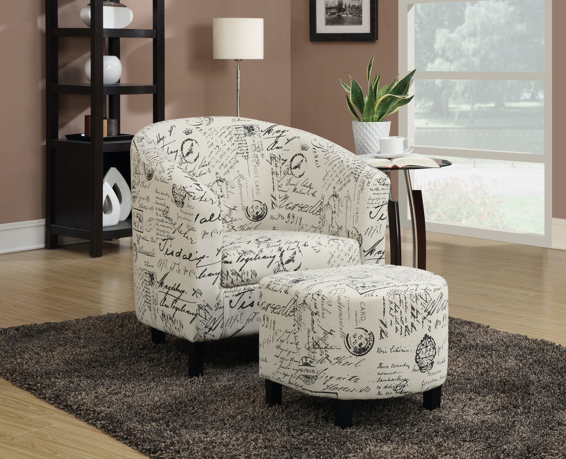 Coaster Accent Chair With Ottoman 900210