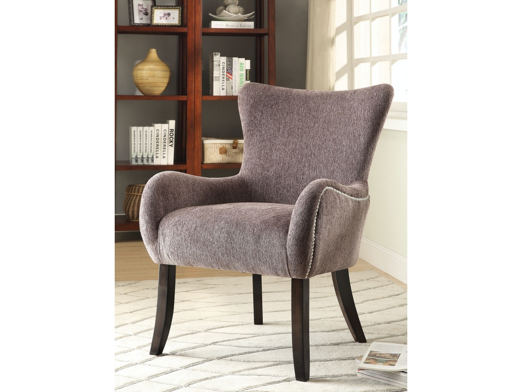 Coaster living room accent chair 902504 gibson furniture for Living room with accent chairs