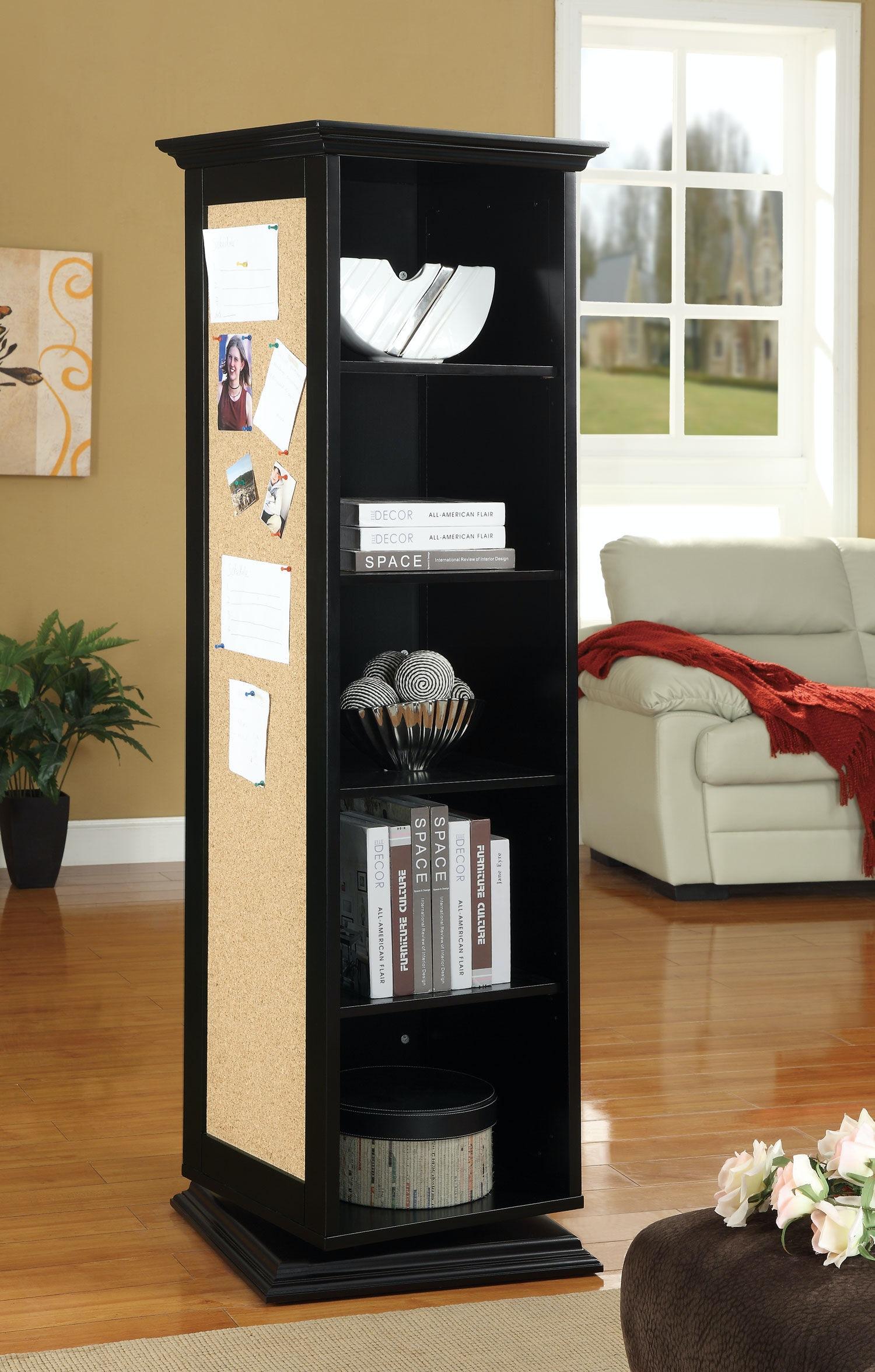 Attrayant Coaster Cabinet Tall Swivel Storage/Mirror/Corkboard 651812
