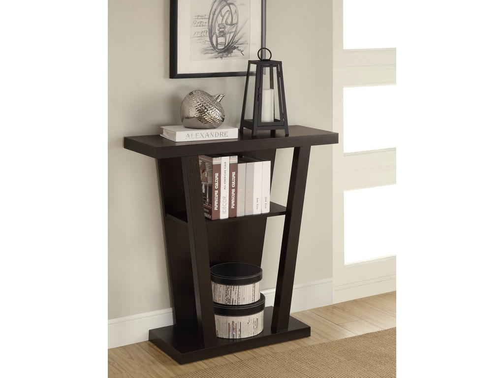 coaster living room console table 950136 gibson furniture andrews nc. Black Bedroom Furniture Sets. Home Design Ideas