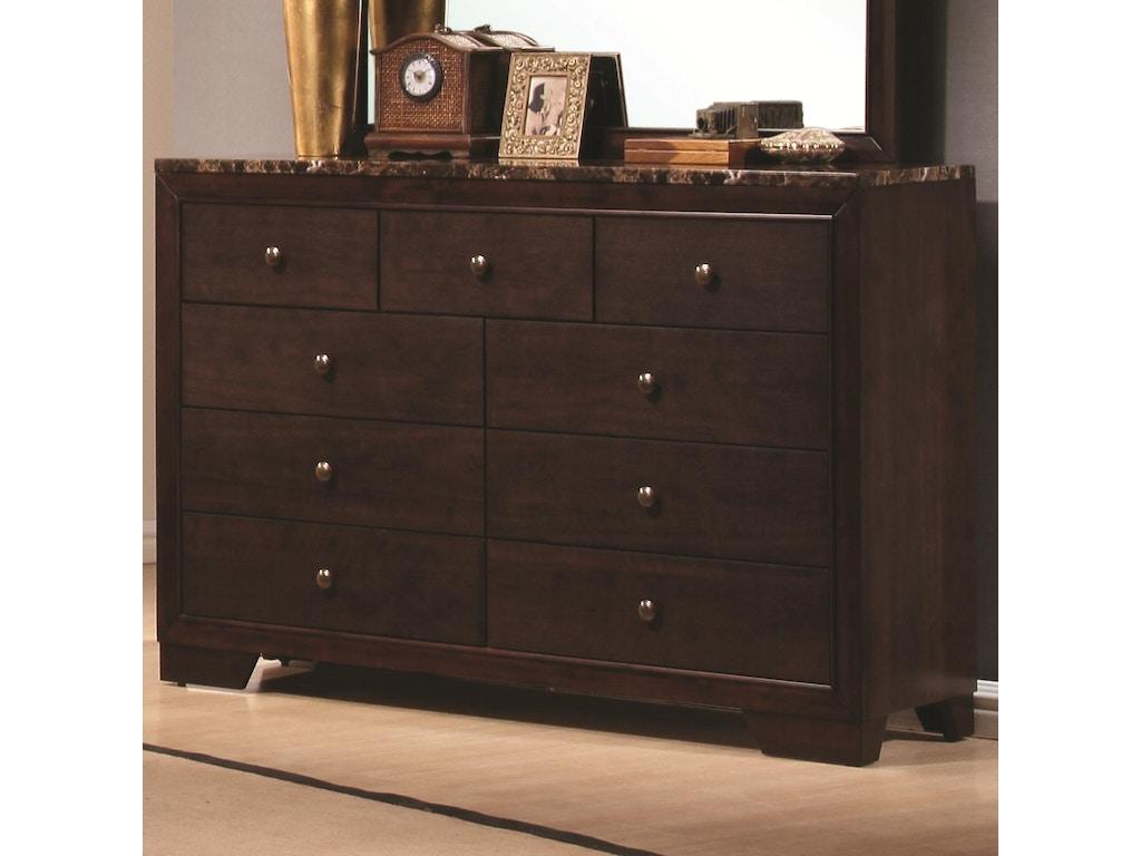 Coaster bedroom dresser 200423 hickory furniture mart for Bedroom furniture hickory nc