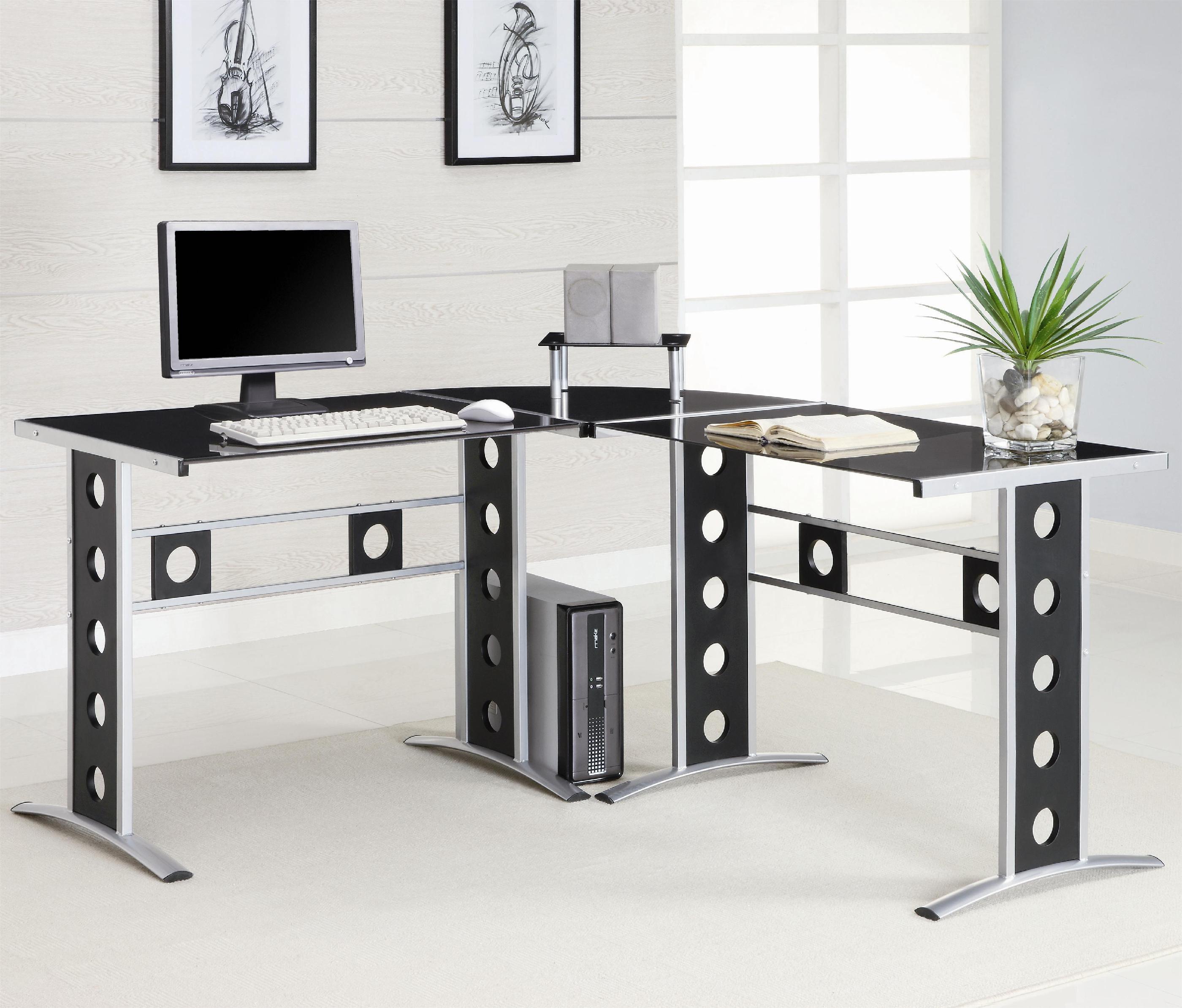 Coaster Home Office 3pc Computer Desk Set Fulton Stores