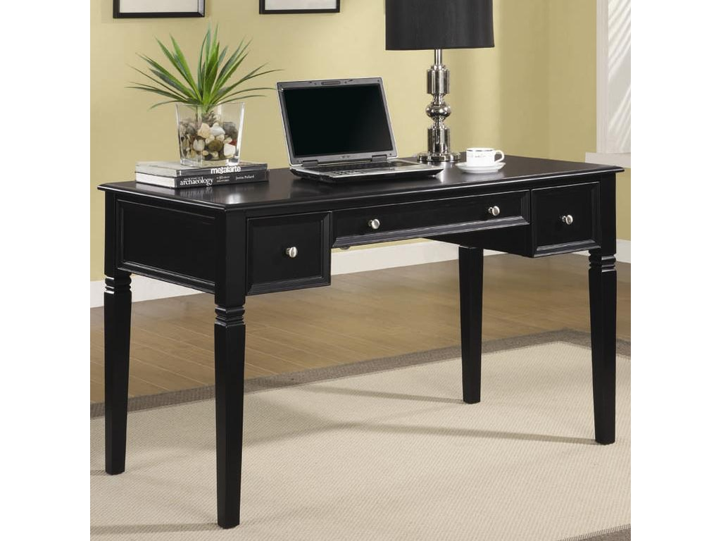 Coaster Home Office Writing Desk With Outlet 800913 The Furniture House Of Carrollton