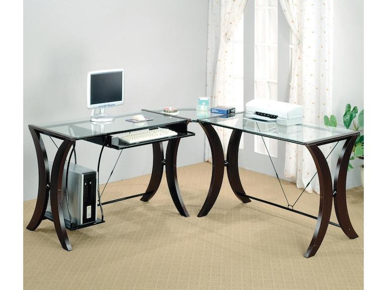 Coaster Home Office 3pc Computer Desk Set 800446 - Evans Furniture ...