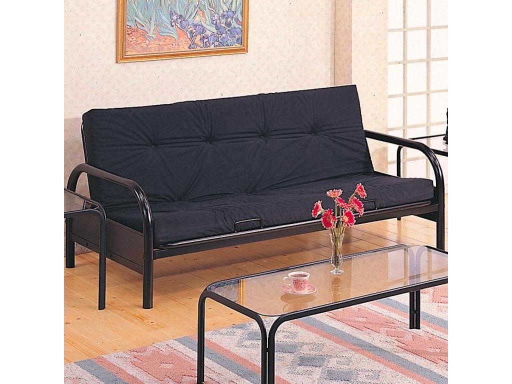 Coaster Living Room Futon Frame 2334 Evans Furniture Galleries Chico Yuba City Ca