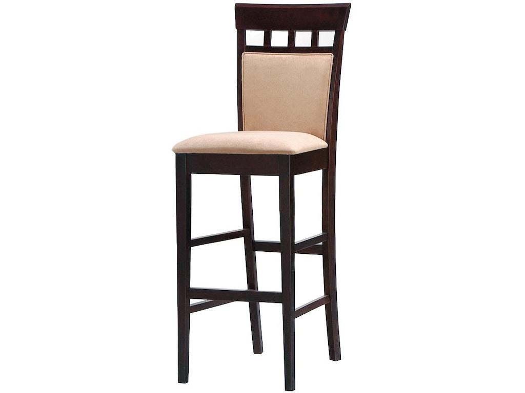 Coaster bar and game room 29 bar stool 100220 emw carpets furniture denver co - Barstools denver ...