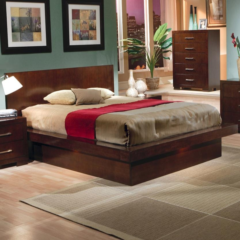 coaster bedroom queen bed 200711q   isaak s home