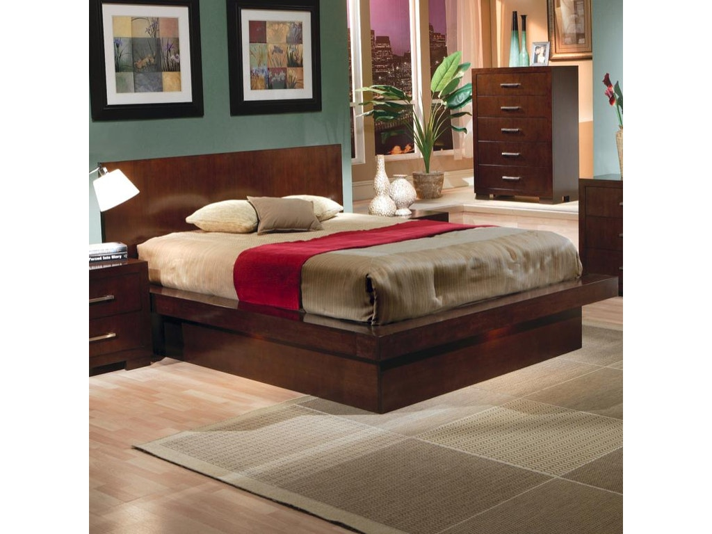 Coaster bedroom queen bed 200711q hickory furniture mart for Bedroom furniture hickory nc