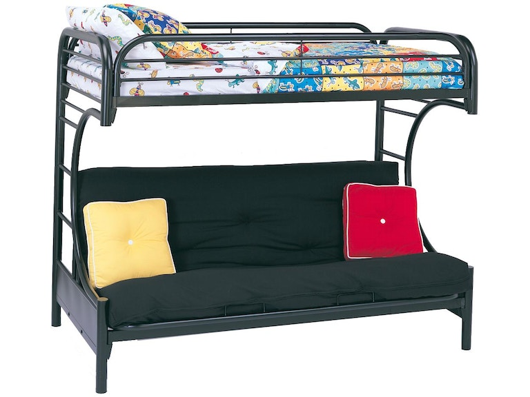 Coaster Youth Contemporary Glossy Black Futon Bunk Bed 2253k Smoky S Furniture Pigeon Forge Tn