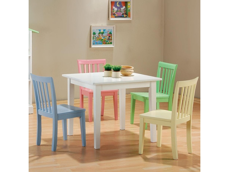 Coaster Bedroom 5 Piece Youth Dining Room Set 460235 Fiore