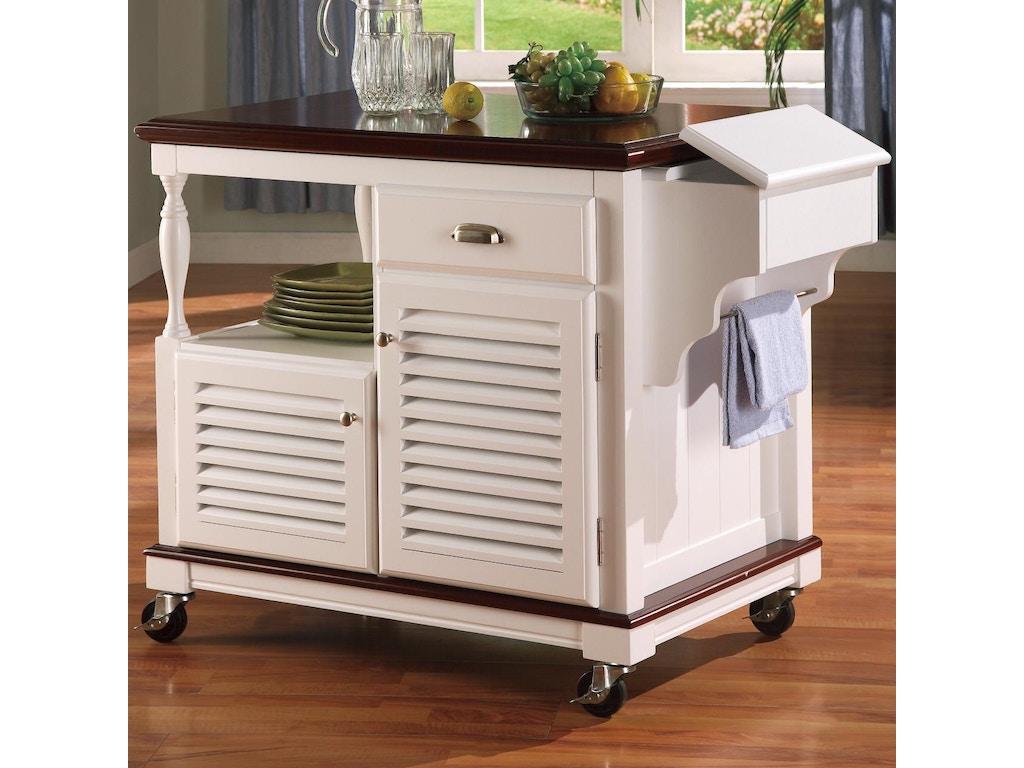 Coaster Accessories Kitchen Cart 910013 Furniture Kingdom Gainesville Fl