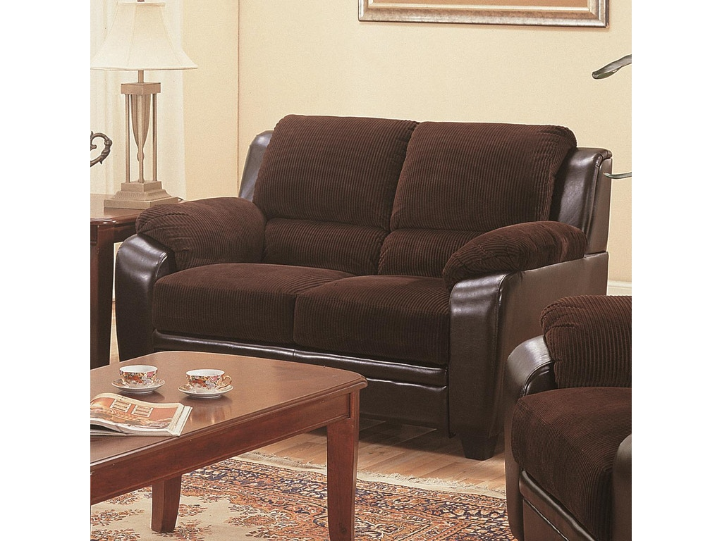 Coaster Living Room Loveseat 502812 The Furniture House Of Carrollton Carrollton Newnan