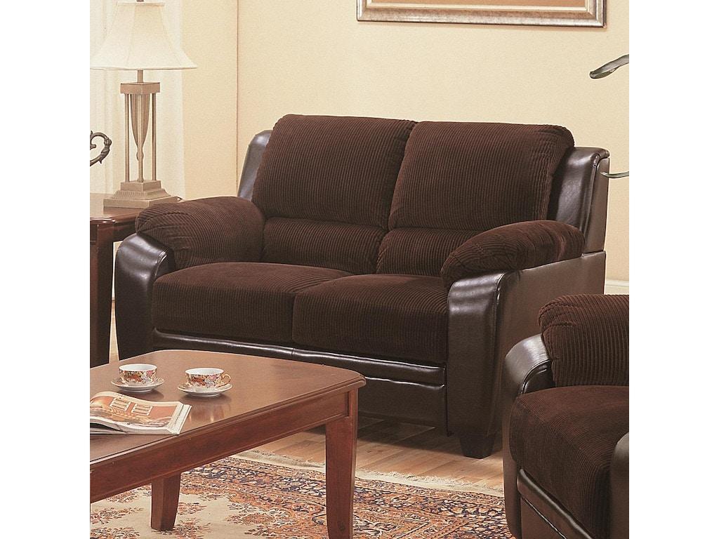 Coaster Living Room Loveseat 502812 Robinson 39 S Furniture Oxford Pa