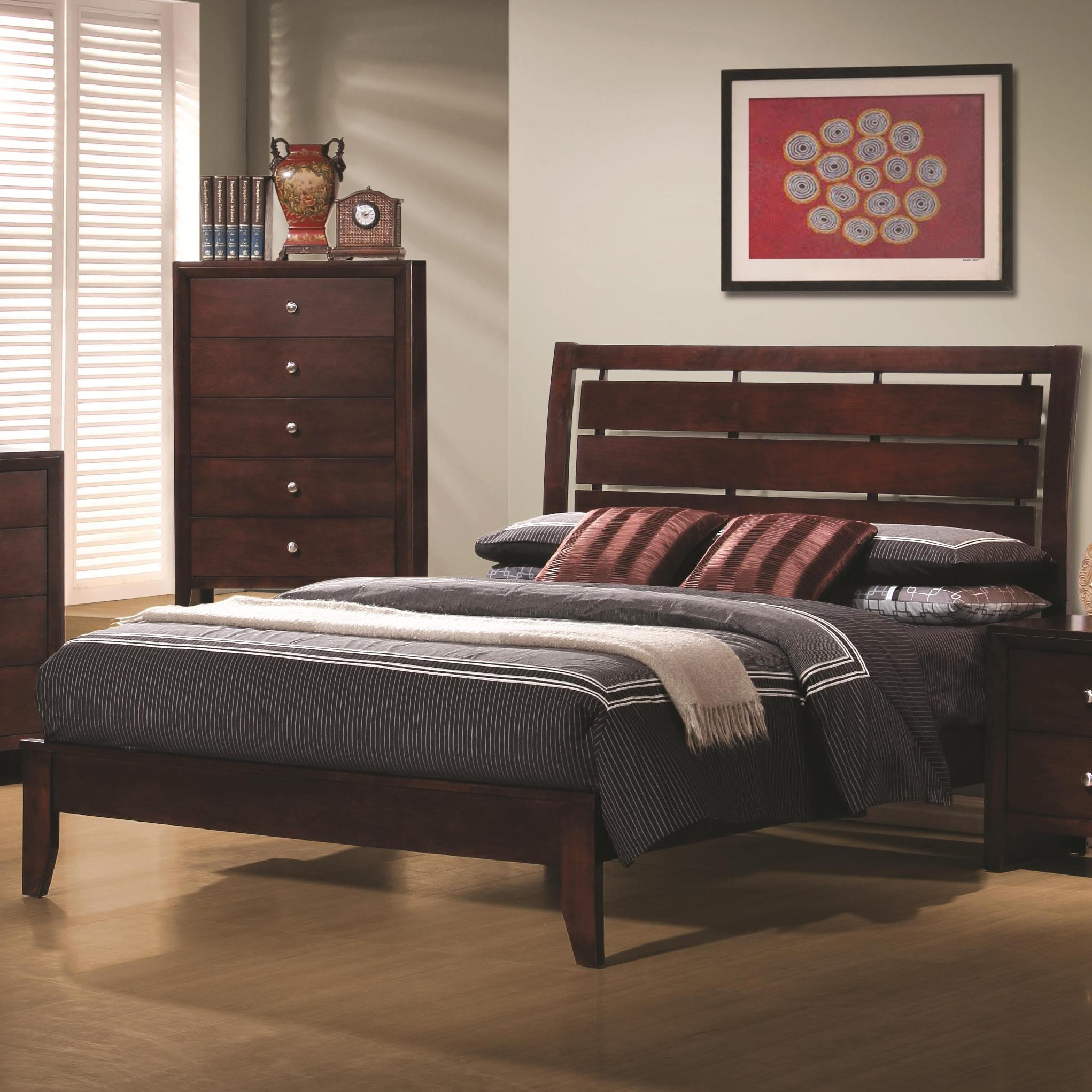 coaster bedroom queen bed 201971q   isaak s home