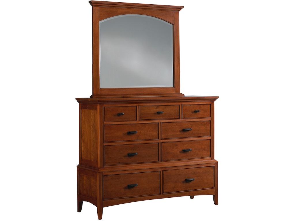 Cresent Fine Furniture Bedroom Modern Shaker Media Dresser