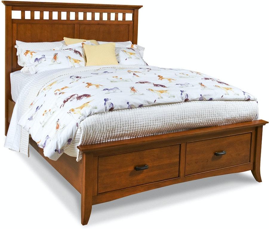 Cresent Fine Furniture Modern Shaker Panel Storage Bed 1331 King