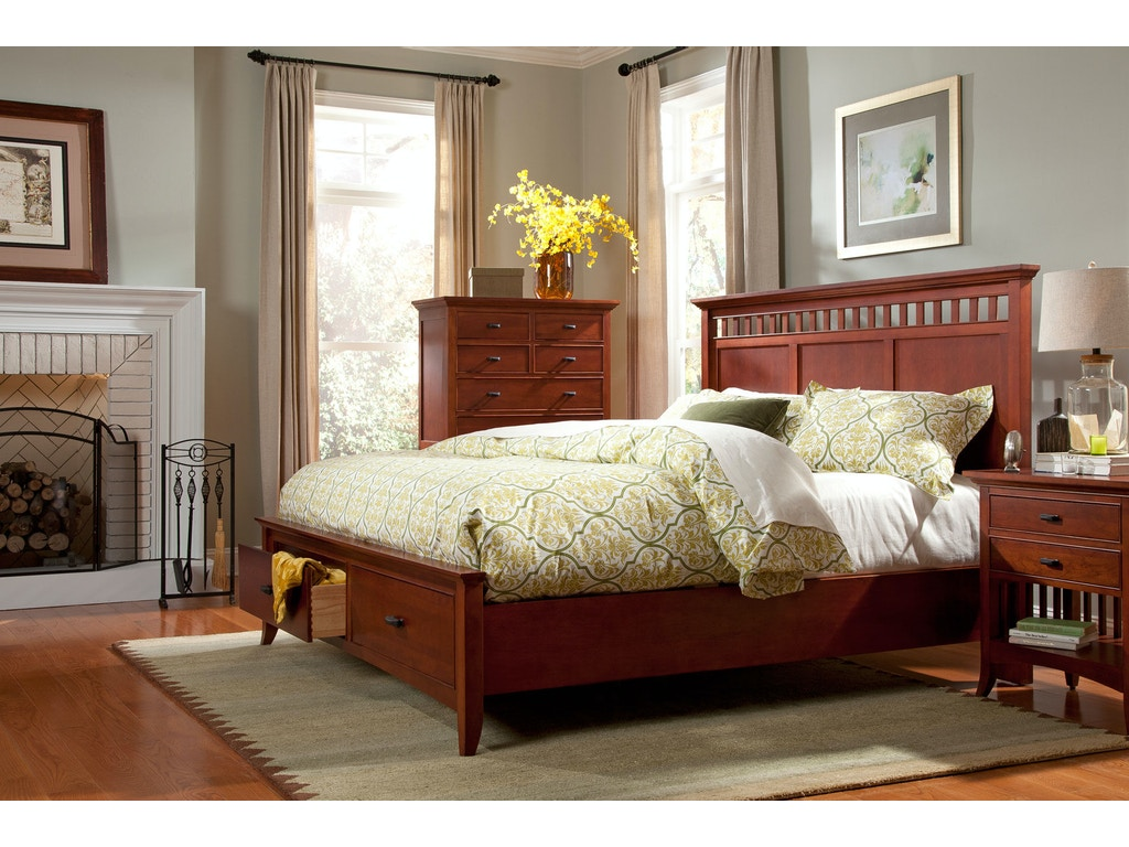 Modern shaker furniture - Cresent Fine Furniture Modern Shaker Panel Storage Bed 1331 Panel Storage Bed