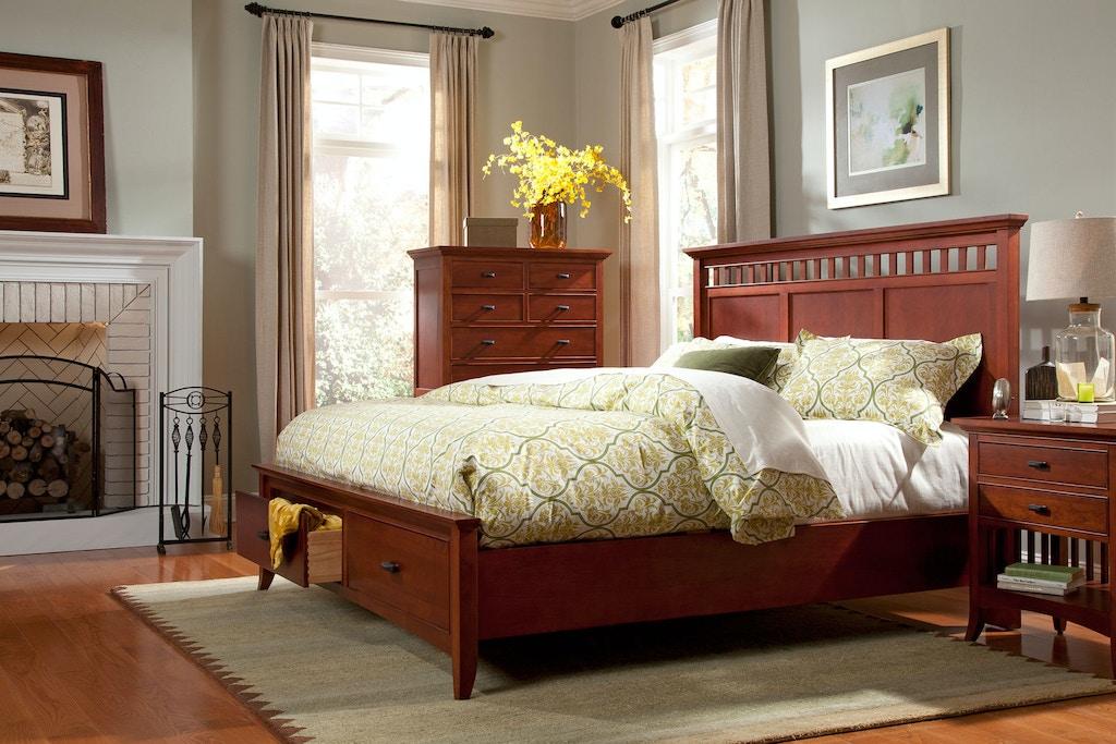 Cresent Fine Furniture Bedroom Modern Shaker Panel Storage Bed 1331 ...