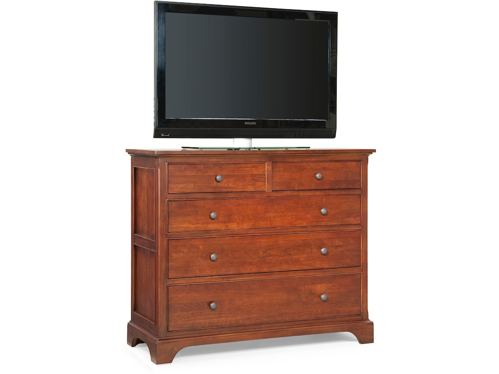 Cresent Fine Furniture Bedroom Retreat Cherry Small Media Dresser 1503 Homestead House