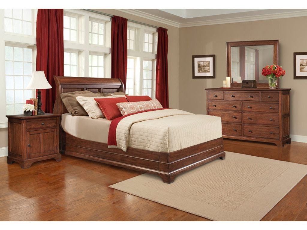 Cresent Fine Furniture Bedroom Retreat Cherry Sleigh Bed Queen 5 0 1532 Queen Sleigh Bed Toms