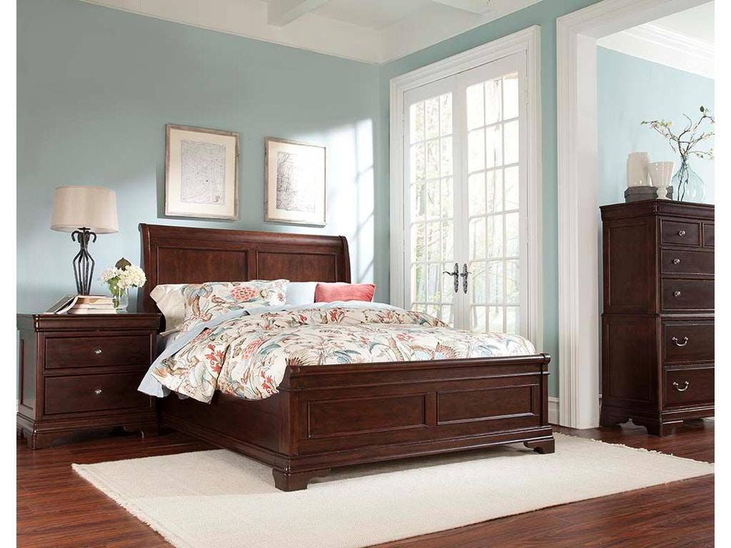 Cresent Fine Furniture Bedroom Provence Sleigh Bed 1732 Sleigh Bed Woodchucks Fine Furniture