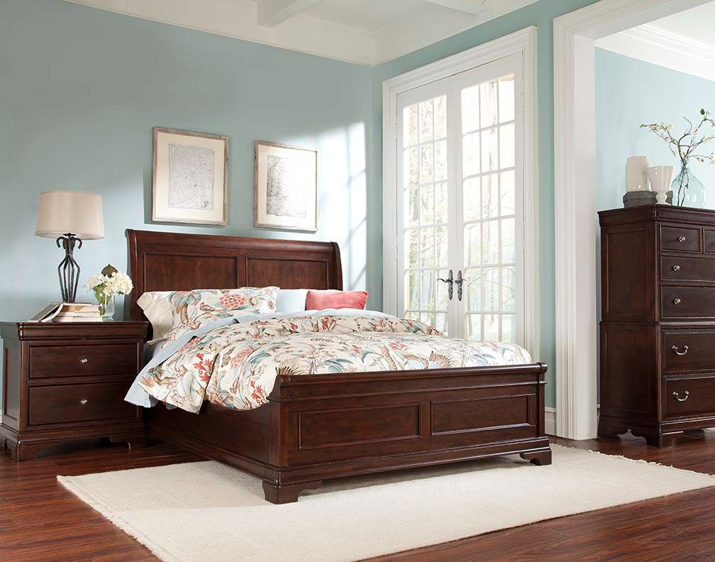 Cresent Fine Furniture Provence Sleigh Bed 1732 Sleigh Bed