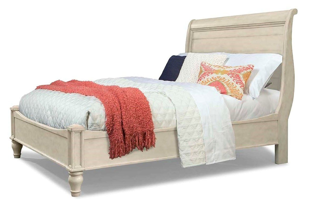 Cresent Fine Furniture Cottage Sleigh Bed White 201 132 Sleigh Bed White