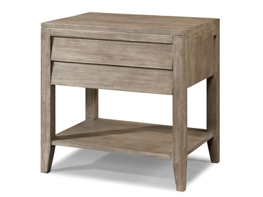 Cresent Fine Furniture Louvered Drawer Nightstand w/Shelf & Power 5612