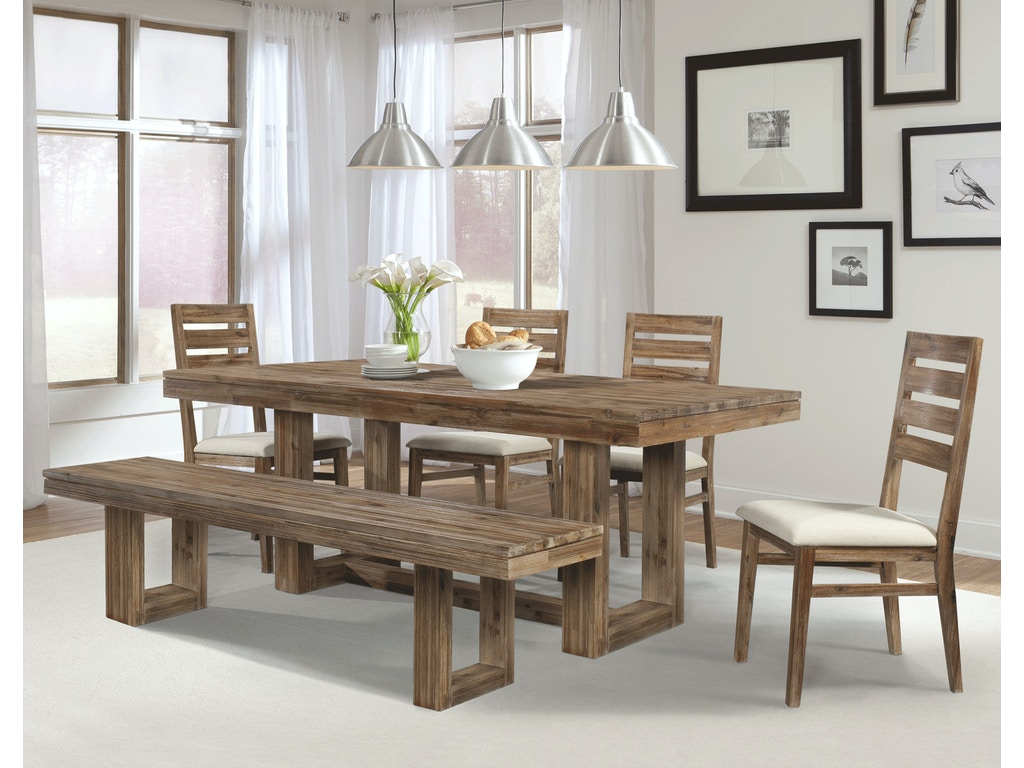 Cresent fine furniture dining room waverly dining bench for Fine dining room furniture