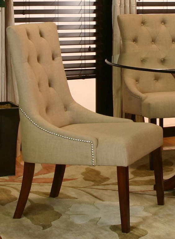 Fantastic Cramco Dining Room Essence Camel Tweed Parsons Chair 25637 Lamtechconsult Wood Chair Design Ideas Lamtechconsultcom