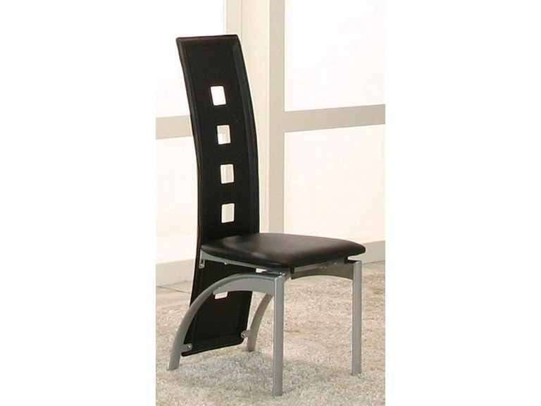 Cramco Dining Room Black Side Chairs 2 Pack 92780 01 Sc Haynes Brothers Volusia County