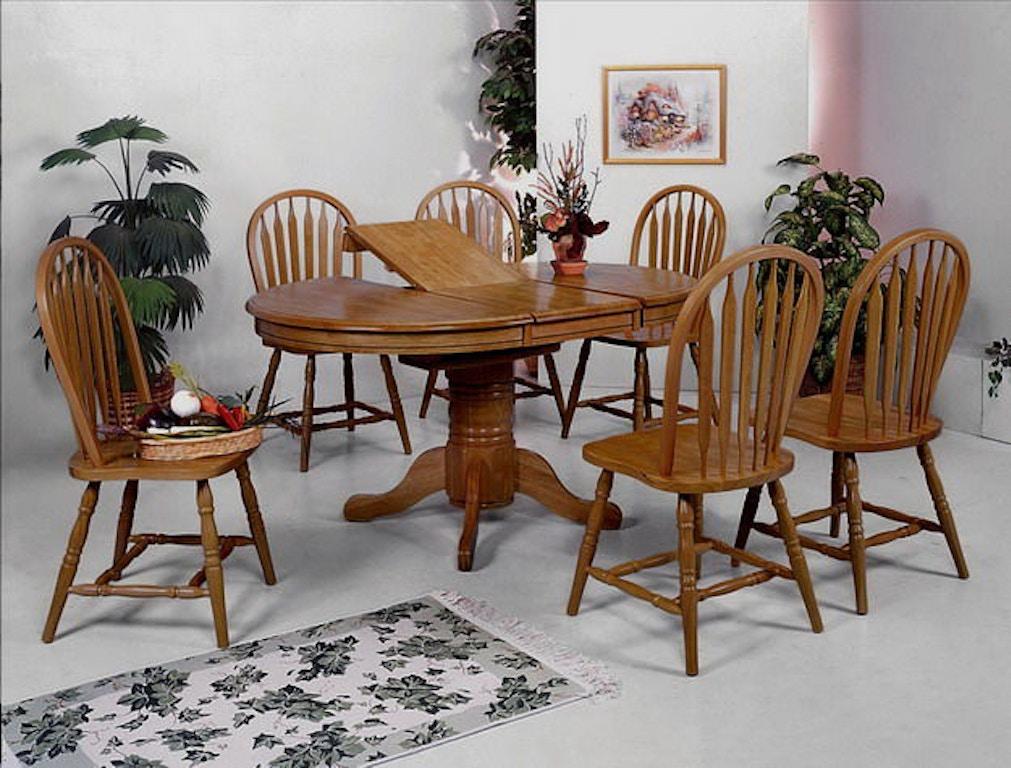 Crown Mark Dining Room Dark Oak Arrow Windsor Chair 38H 1059 DOAK ASSE At Smith Village Home Furniture