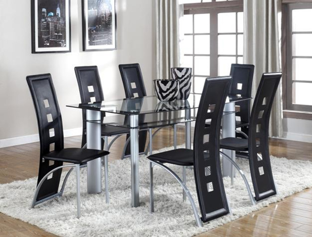 The Crown Mark Dining Room Echo Table Gl Top Is Available In Jacobus And York Pa Area From Smith Village Home Furniture